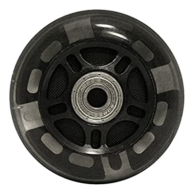 choice 82A Light Up LED Inline Wheels with ABEC 9 Bearings (8 Pack), 76mm, Black : Sports & Outdoors