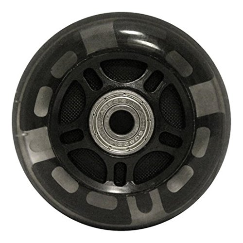KSS 82A Skate Rollerblade Ripstik Light Up LED Inline Wheels with Bearings (2 Pack), 76mm, Black by KSS (Image #1)