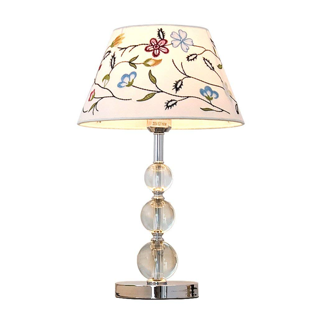 Juexianggou テーブルランプ、寝室のベッドサイドクリエイティブクリスタルテーブルランプ、ヨーロッパシンプルモダン北欧暖かいベッドサイドランプ 柔らかい女性のスカーフ Buttons B B07RZ7Q5VX
