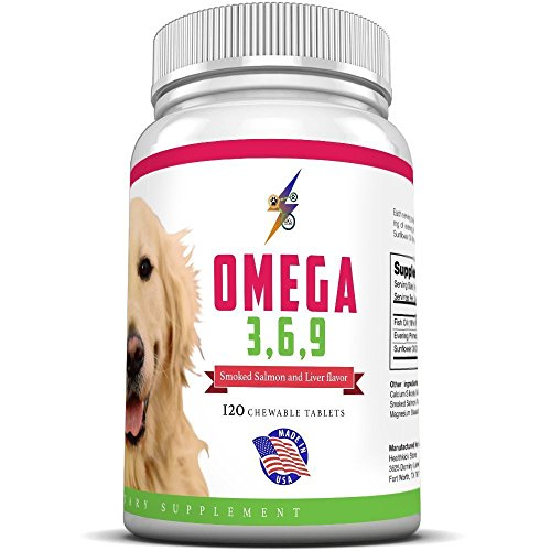 Best-Omega-3-6-9-Fish-Oil-for-Dogs-Helps-with-Itchy-Skin-Coat-Joints-Heart-and-Brain-Fatty-Acids-Dog-Supplements-Boost-Immune-System-120-Chewable-Tablets-Salmon-Flavor