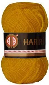 AB Hariri Yellow Colour No.194 Crochet and Knitting Yarn
