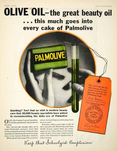 1932 Ad Palmolive Soap Olive Oil Bar Complexion Beauty Hygiene Women Skin Bath - Original Print Ad