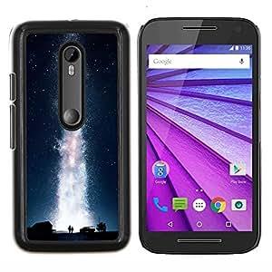 LECELL--Funda protectora / Cubierta / Piel For Motorola MOTO G3 3rd Gen -- Galaxia Vía Láctea --