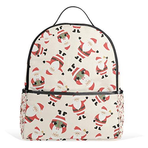 Price comparison product image Backpack Christmas Cute Santa Claus School Bags Daypack Bookbag Shoulder Laptop Book Bag for Teens Boys Girls Kid's
