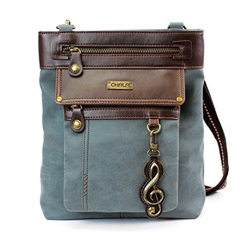 Chala GEMINI Crossbody PU Leather Messenger Bag Indigo - Clef - Indigo