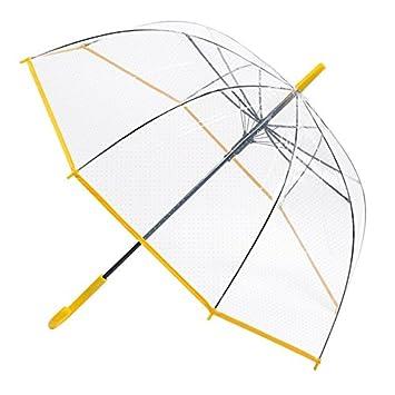 HAN-NMC PARAGUAS paraguas transparente, amarilla
