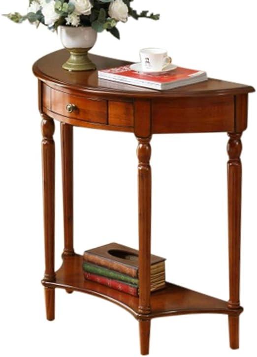 Mesas Wang Tabla de Madera sólida Lateral Mesa de café Americano ...