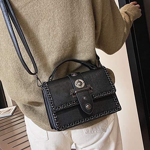 Piccola Blu Semplice Femminile Selvaggia Argento Borsa Bag Spalla Quadrata Moda Xmy Messenger fqCOOa