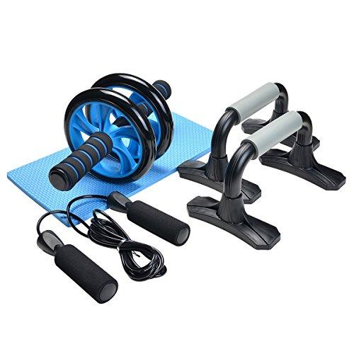 odoland 3 in 1 ab wheel roller kit ab roller pro with push. Black Bedroom Furniture Sets. Home Design Ideas
