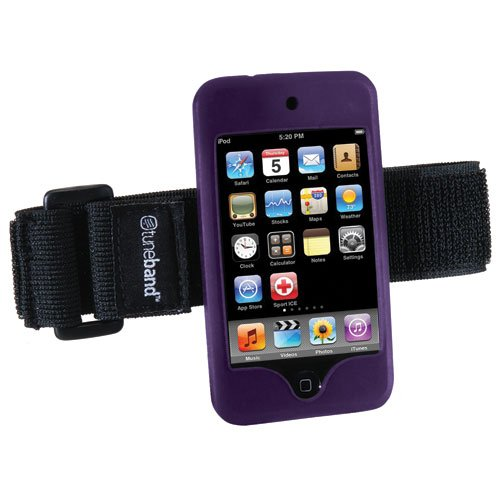 Tuneband, Grantwood Technology's Armband, Silicone Skin for iPod Touch 8GB/16GB/32GB/64GB (2nd and 3rd Generation), PURPLE