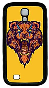Galaxy S4 Case, Personalized Protective Soft Rubber TPU Black Edge Big Mouth Tiger Case Cover for Samsung Galaxy S4 I9500
