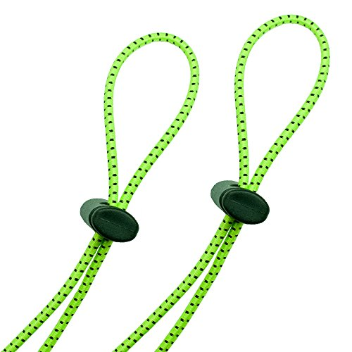 Flow Bungee Goggle Strap Kit (2-Pack) - Universal Adjustable Replacement Straps For Swim Goggles (Neon Green)