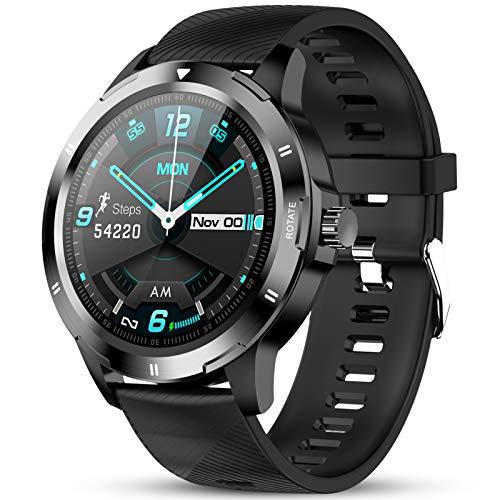 GOKOO Smartwatch Fitness Tracker 1,3Zoll Armbanduhr mit personalisiertem Bildschirm Smartwatch Herren mit Herzfrequenz und Schlafmonitor Sportuhr Intelligente Uhr Männer Frauen für iOS Android Handy