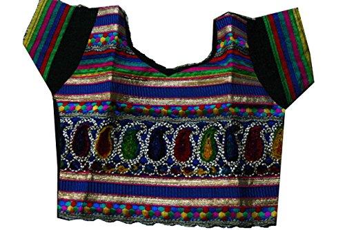 Samudrika Designer Embroidered Garba Lehenga Chaniya Choli Cotton Black Size 2 Years