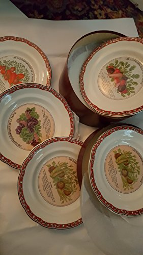 Vintage set of 6 gien plates