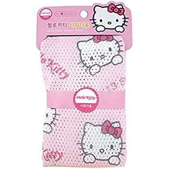 Hello Kitty Shower Bath Towel for Washing Body and Back 30 x 35 cm 100% Polyester