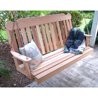 (Creekvine Designs 4' Cedar Classic Porch Swing)
