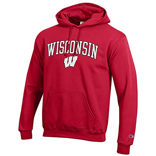 Elite Fan Shop Wisconsin Badgers Hoodie Sweatshirt Varsity Cardinal - M