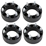 "(4)2"" (50mm) 6x5.5 Black Wheel Spacers Fits Chevy Silverado GMC Sierra 1500 HD"