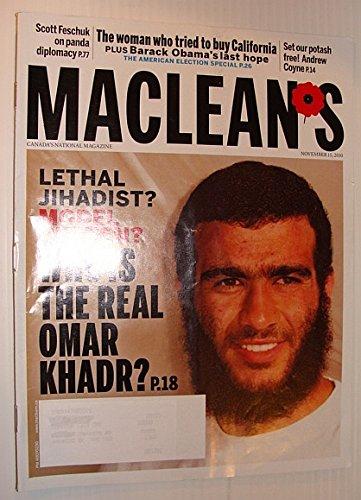 Maclean's Magazine, November 15, 2010 - Omar Khadr Cover Photo