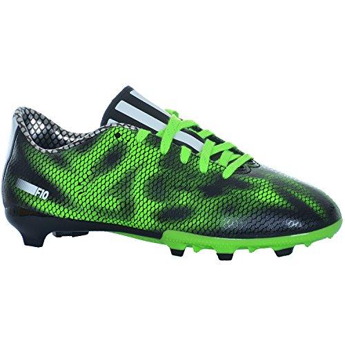 Adidas F10 FG J Fussballschuhe Schuhe Fußball Schwarz Grün B35983, Schuhgröße:37 1/3