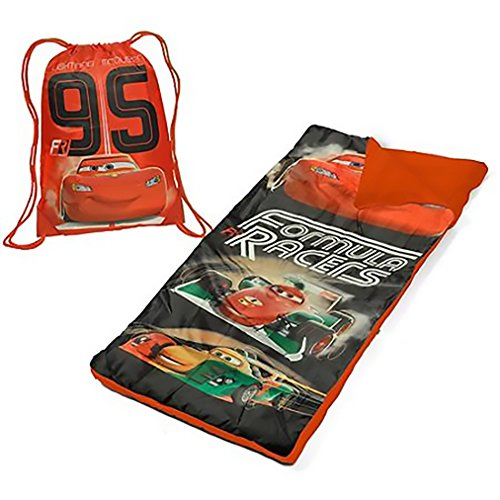 Disney Cars Toddler Sleepover Set with Sleeping Bag with Sling Tote ()