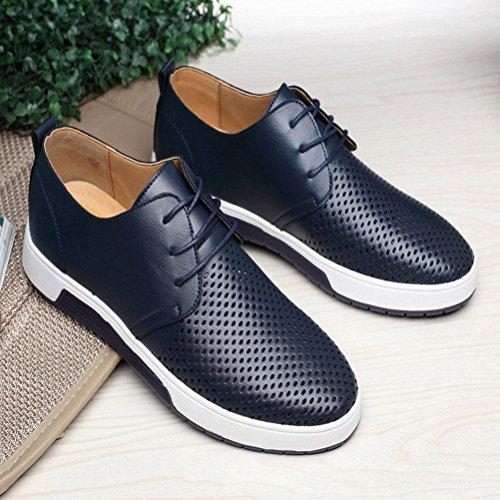Libero Mocassini Tempo Minetom Sneakers Affari Commerciali A Moda Piatte Eleganti Pelle Uomo di Scarpe Blu Casual I4FIxH