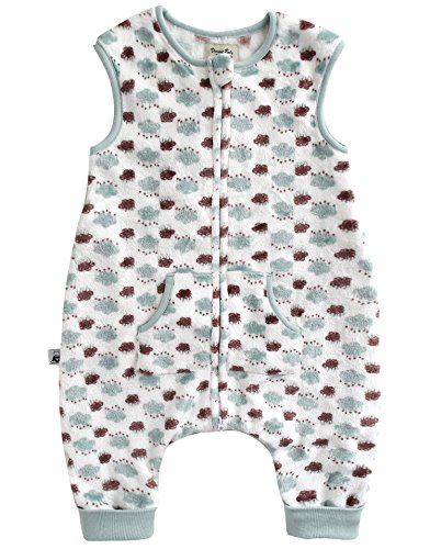102 Fleece - Vaenait baby 1-7Y Ultra Soft Plush Fleece Kids Boys Wearable Blanket Sleeper Rain Cloud Mint L