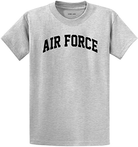 Joe's USA Air Force Logo Heavyweight Cotton T-Shirt-Ash/b-M