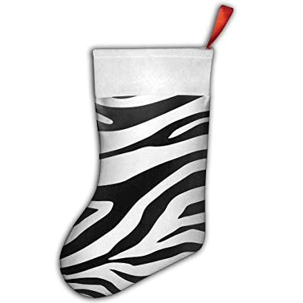 vicrunning zebra napkin paper cheetah animal print black zebra christmas stocking decorations for family festive holiday - Christmas Zebra Decorations