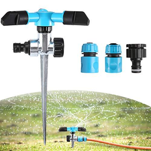 - AGSIVO Garden Sprinkler Water Sprinkler for Lawn 360 Degree Rotate Spike, Adjustable Rotating Spray