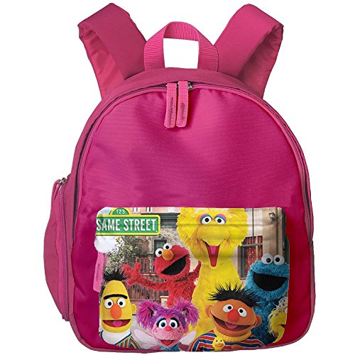 Sesame Street School Backpacks For Children Girls Boys Oxford Printed With Front Pocket - Oxford Stores Street
