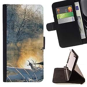 Momo Phone Case / Flip Funda de Cuero Case Cover - Paisaje de invierno - Samsung Galaxy J1 J100