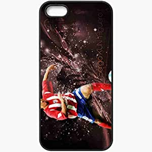 Personalized iPhone 5 5S Cell phone Case/Cover Skin Aguero atletico madrid Black