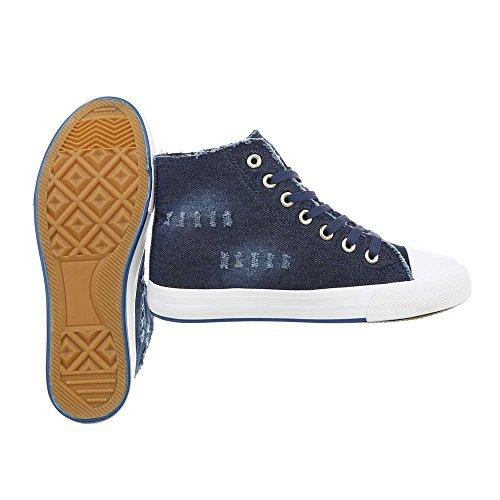 Haut Sport Lacets Bleu design Fonc De Italien R15 Femmes Sport Chaussures n0A6IYPxx