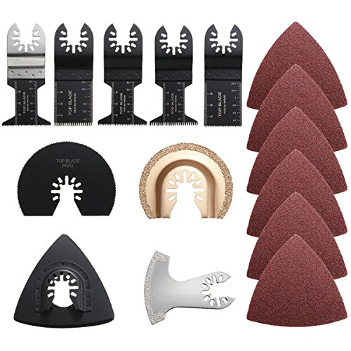 Pukido 9pcs Saw Blades with 32pcs Sandpaper Oscillating Multitool by Pukido