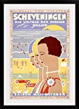GreatBIGCanvas ''Scheveningen,Vintage Poster, by Louis Christian Kalff'' Photographic Print with Black Frame, 24'' x 36''