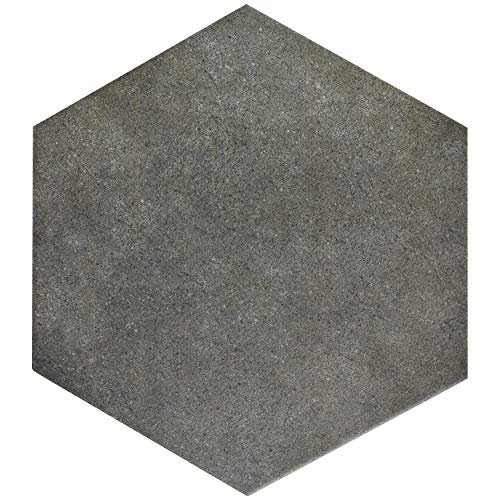 SomerTile FCD10VMX Verema Hex Porcelain Floor and Wall Tile, 8.625