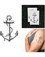 Vintage Anchor Temporary Tattoo (Set of 2)