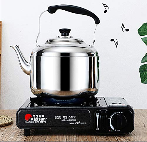 Extra Sturdy Stainless Steel Whistling Tea Kettle for Stovetop Induction Cooker, 10 Quart by Towa (Image #1)