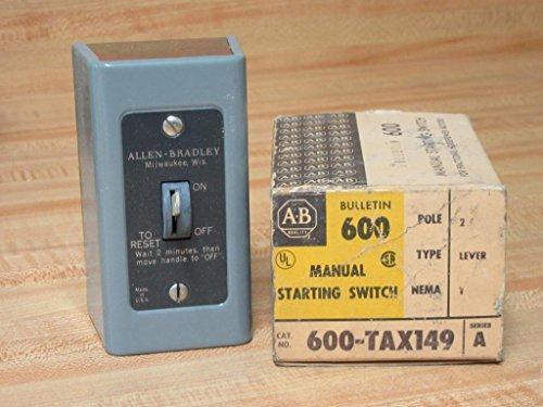 Allen Bradley 600-TAX149 Manual Starting Switch 600TAX149 - Allen Bradley Manual