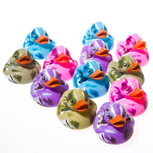 Assorted Color Camouflage Rubber Duckies