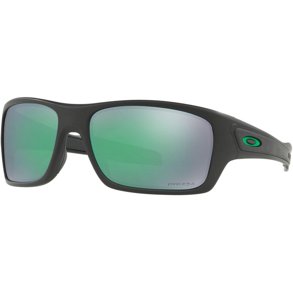 Oakley Mens Turbine Polarized Sunglasses, Matte Black/Prizm Jade Pol,OS