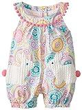 Mud Pie Baby-Girls Newborn Bunny Pocket Romper, Multi, 0-6 Months