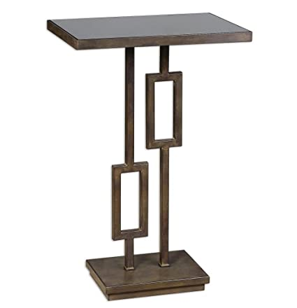 Ordinaire Image Unavailable. Image Not Available For. Color: Contemporary Wrought  Iron Side Table With Black ...