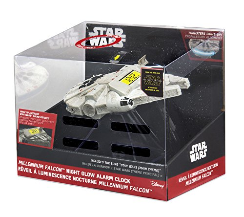 092298924809 - Star Wars-The Force Awakens Millennium Falcon Night Glow Alarm Clock carousel main 3