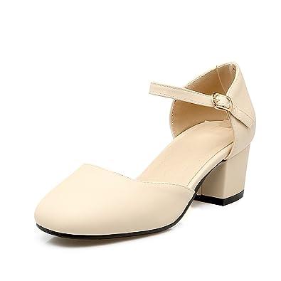 QIN&X Bloc de femmes Chaussures Chaussures Bottes moyen court,blanc,44