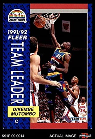 6d24e887f 1991 Fleer   378 Nuggets Leaders Dikembe Mutombo Denver Nuggets (Basketball  Card) Dean s Cards