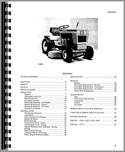 Allis Chalmers 916 Lawn & Garden Tractor Operators Manual pdf