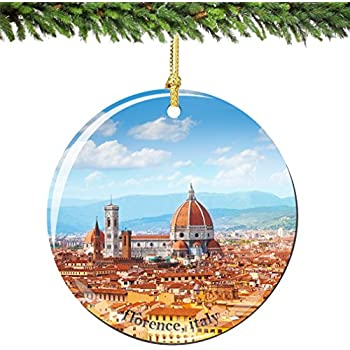 florence christmas ornament italy porcelain 275 double sided florence cathedral italian christmas ornaments - Italian Christmas Ornaments